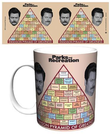 Parks and Rec Swanson Pyramid of Greatness Mug