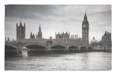 Big Ben, Houses of Parliament and Westminster Bridge, London, England, Uk