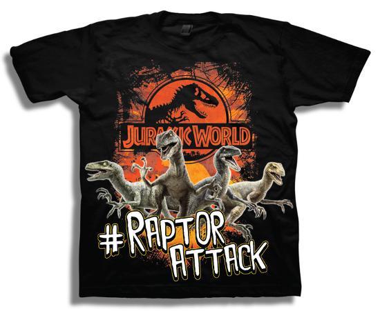 982b0700 Youth: Jurassic World Raptors Attack Shirt at AllPosters.com