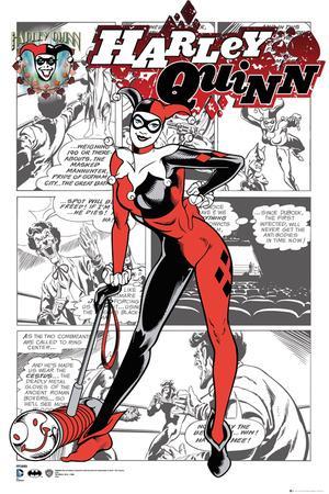 Harley Quinn- Comic Panels