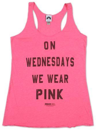 Women's: Mean Girls- Pink Tank Top