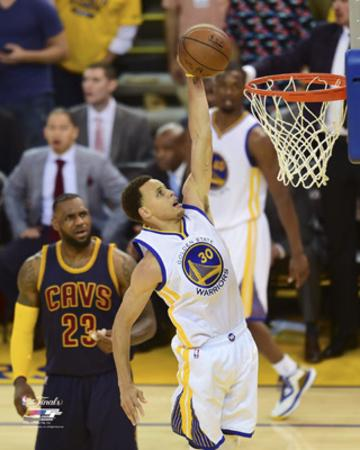 Stephen Curry Dunking in Game 1 of the 2015 NBA Finals