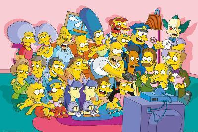 The Simpsons Sofa Cast