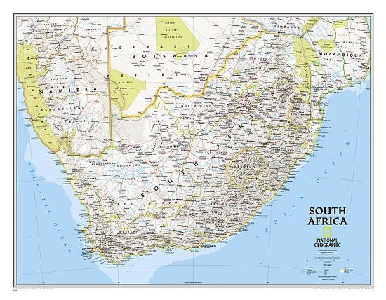 National Geographic South Africa Map Print At Allposters Com
