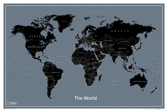 National Geographic Modern World Map Posters at AllPosters.com