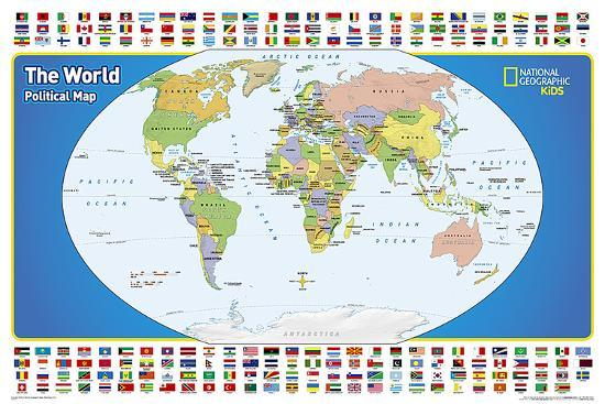 National Geographic World Political Map.National Geographic Kids World Political Map Poster At Allposters Com