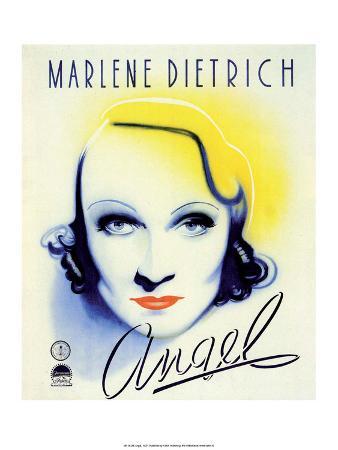 Vintage Movie Poster - Angel with Marlene Dietrich