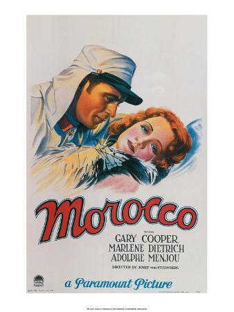 Vintage Movie Poster - Gary Cooper in Morocco