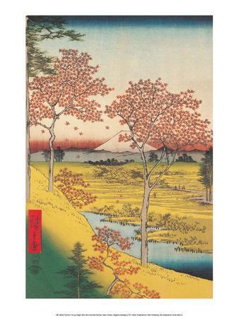 View of the Sunset at Megro, Edo