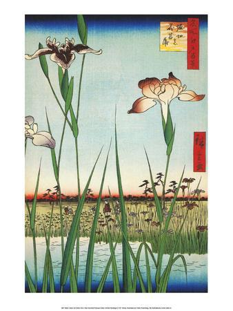 Irises at Horikin from One Hundred Famous Views of Edo
