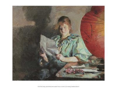 Reading, Interior, Evening, 1890
