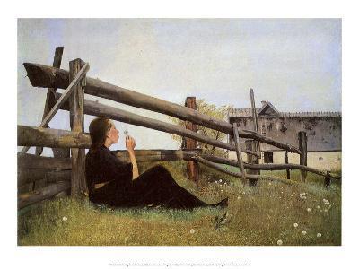Girl Blowing Dandelion Seeds, 1899
