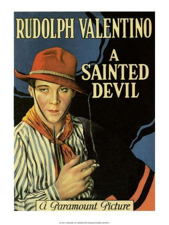 Vintage Movie Poster - Rudolph Valentino in A Sainted Devil