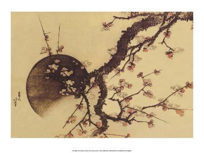 Cherry Blossom Tree with Full Moon