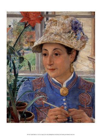Jeanette Rubenson Crocheting , 1883