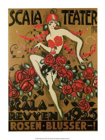 Vintage Poster Advertising Scala Theatre