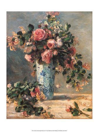 Roses & Jasmine in a Delft Vase, 1881