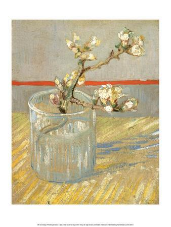 Sprig of Flowering Almond in a Glass, 1888