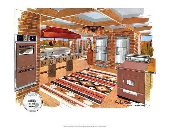 modern western decor.htm mid century modern kitchen  western  art allposters com  mid century modern kitchen  western