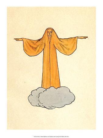 Orange Ghost on a Cloud