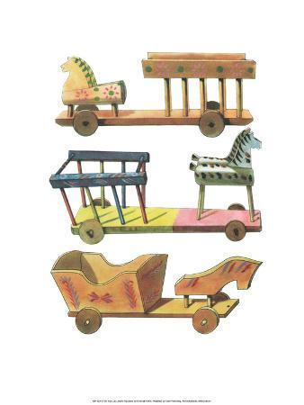 Wooden Horse & Cart - Folk Toys