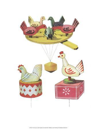 Wooden Pecking Chickens - Folk Toys