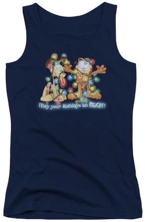 Juniors Tank Top: Garfield - Bright Holidays