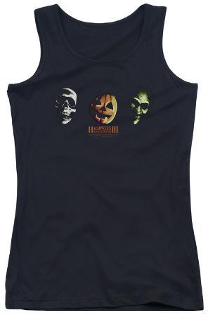 Juniors Tank Top: Halloween III - Three Masks