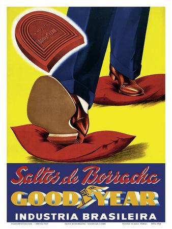 Saltos de Borracha (Rubber Heels) - Goodyear - Industria Brasileira (Brazilian Industry)