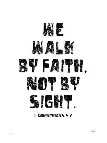 We walk by faith and not by sight   high quality Canvas Home decor wall