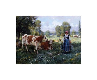 Laitiere Gardant ses Vaches
