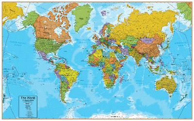 Images Of A World Map.World Interactive Wall Chart Prints At Allposters Com