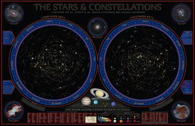 Wonders Of The Constellations Wall Chart