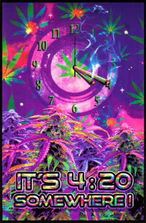 Opticz It's 4:20 Somewhere Blacklight Poster