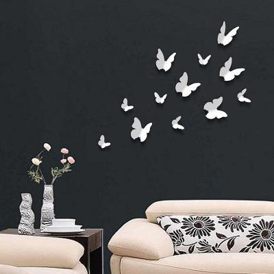 3D Butterflies - White
