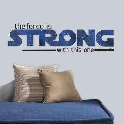 Star Wars Classic The Force Is Strong Peel & Stick Wall Decals
