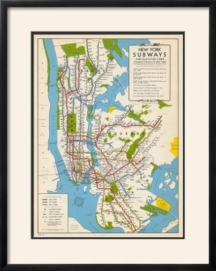 Bny Subway Map.1949 New York Subway Map New York United States