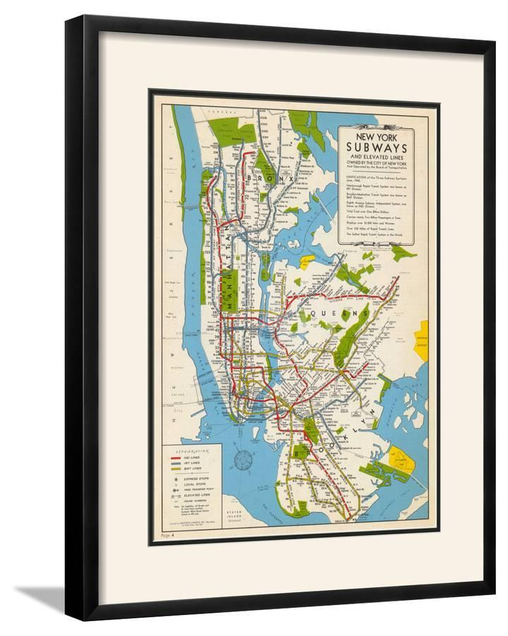 G Subway Map.1949 New York Subway Map New York United States
