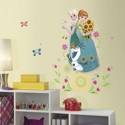 Disney Frozen Fever Group Peel And Stick Giant Wall Graphic