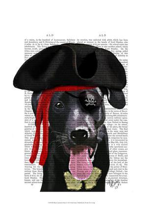 Black Labrador Pirate
