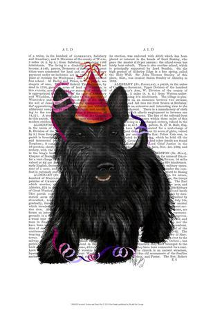 Scottish Terrier and Party Hat