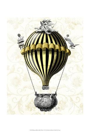 Baroque Balloon Black Yellow