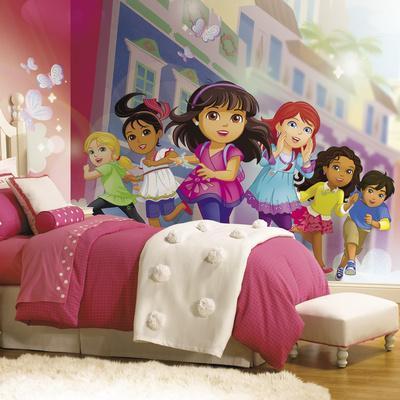 Dora And Friends XL Chair Rail Prepasted Mural