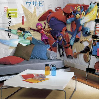 Big Hero 6 XL Chair Rail Prepasted Mural