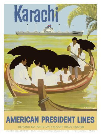 Karachi - Pakistan - Boat - American President Lines