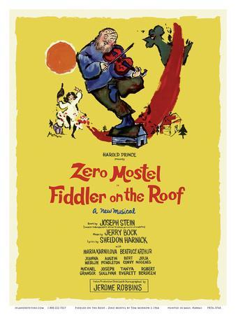 Fiddler on the Roof - Starring Zero Mostel - Musical by Harold Prince