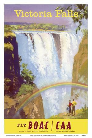 Victoria Falls, Zimbabwe - Fly BOAC (British Overseas Airways Corporation)