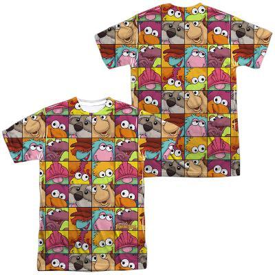 Fraggle Rock- Character Squares (Front/Back Print)