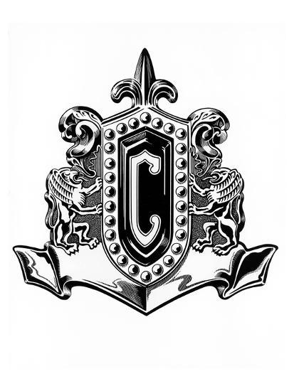 1954 Chrysler Badge Premium Giclee Print at AllPosters.com