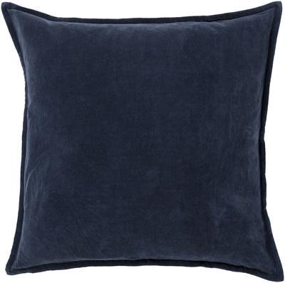 Cotton Velvet Poly Fill Pillow - Midnight